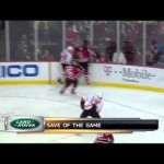 Martin Brodeur unbelievable glove save 1/21/12