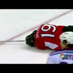 Spezza Gets Smoked In The Face! 4/18/12