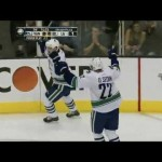 Henrik Sedin's Big Goal vs L.A. Kings 4/18/12