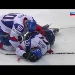 Getzlaf Knee On Knee Hit IIHF 5/17/12