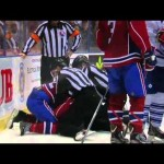 AHL – Ryan Delivers a Big Hit to Stortini, Stortini Doesn't Like It – 11-17-2012