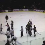 NCAA Jacob Trouba Destroys Northern Hockey Player (Huge Hit) – 11-7-2012