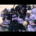 Brawl – Hit on Goalie Ignites KHL Fireworks – 2-25-2013