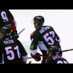 KHL – Player Runs a Pick on Own Goalie – 3-1-2013