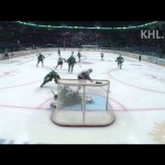 KHL – Great Spin Move in Close for a Goal – 3-18-2013