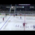 KHL – Mironov Hip Checks Lyubimov into the Boards – 3-7-2013