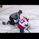 Hit + Fight – Thrower Lays Out a Big Hit Then Fights! – 4-26-2013