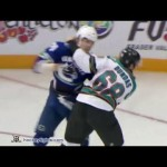 FIGHT: Canucks Mychan Drops Shark Dundas