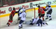 SAVE – Jake Allen Amazing Stick Save on T.J. Brodie – 2-15-2013
