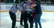 KHL – Shoot In Injures Referee – 3-15-2013