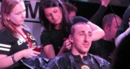 Marchand gets Shaved for Charity – 4-1-2013