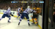 FIGHT – Lucic vs Aulie with SloMo – 4-25-2013