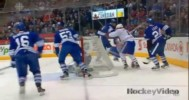 Hit – Orr Lays Out Ellar at the Side of the Net – 4-27-2013