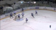 KHL Playoffs – Huge Blocker Save by Ezhov – 3-26-2013