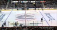 Hit – Ebbett Deposited onto Sharks Bench – 5-1-2013