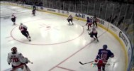 New York's Dan Girardi Runs Over Mike Green 5/7/12