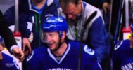 Funny – Canucks Player Falls Off the Bench – 4-4-2013
