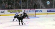 NHL – Old Time Flying Poke Check by Ducks Keeper – 2-4-2013