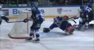 KHL – Kuznetsov's Great Save is Replayed Strangely – 1-9-2013