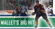 Mallet Throws a Big Hit (CanucksTV) – 10-25-2012