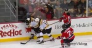 Ugly Elbow by Anton Volchenkov on Brad Marchand – 4-10-2013