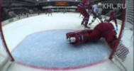 KHL – Grigorenko Dives to Save a Goal – 3-7-2013