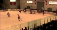 BCHL – Player Puts His Skate Through the Glass – 3-3-2013