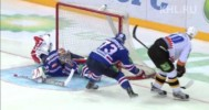 KHL – Ezhov Stretches for the Glove Save – 3-8-2013