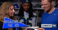 Seahawks Richard Sherman Scouts the Canucks – 4-11-2013