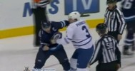 Fight – Dion Phaneuf vs Andrew Ladd – 3-12- 2013
