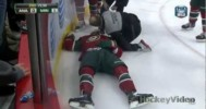 Bad Hit – Corey Perry Late on Jason Zucker – 3-12-2013