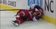 HIT – Mark Fraser Throws Jeff Skinner Into the Boards – 2-14-2013