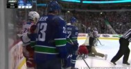 Alex Burrows Questionable Hit On McDonagh 4-1-14