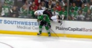 Alex Goligoski Flips Corey Perry With Hip Check