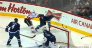 Backlund's Ugly Hit on Enstrom 10-4-14