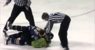 Batman vs Riddler Hockey Fight