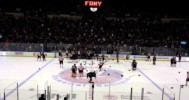 Bench clearing brawl at FDNY vs NYPD Hockey Game 2014