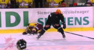 Brutal Check In Swiss Hockey League