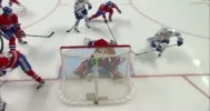 Budaj Makes Great Save After JVR's Sick Pass