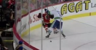 Burrows Buries Wideman With Heavy Hit