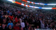 Canadian and U.S. Anthems Before Penguins Game