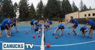Canuck's Prospects Play Blindfolded Dodgeball