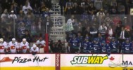 Canucks vs Flames Line Brawl