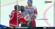 Czech Republic's Michal Plutnar Knocks Down Official At WJC