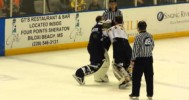 Goalie Fight – Di Salvo Trades With Clarke 3-1-14