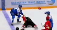 KHL Player Tries To Fight Everyone!