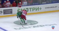 KHL – Seleznyov's Huge Hit On Dubrovsky