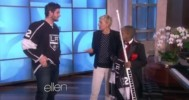 LA King's Jonathan Quick Appears On Ellen 4-8-14