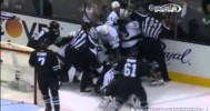 LA Kings vs San Jose Sharks Scrum 4-17-14