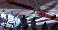 Mark Donnelly Crashes During Anthem